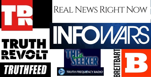 Banners from fake news websites