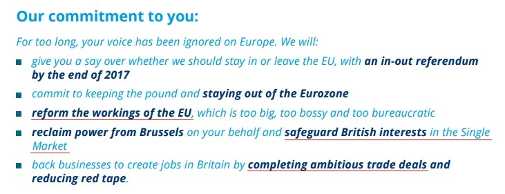 Conservative manifesto: broken promises of Brexit
