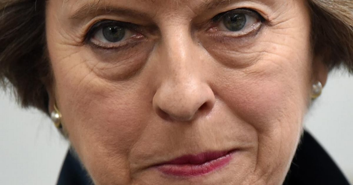 Fucking terrifying picture of Theresa May, as most of them are