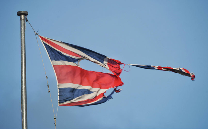 Torn union flag