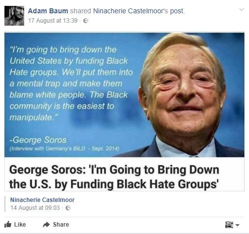 George Soros lie