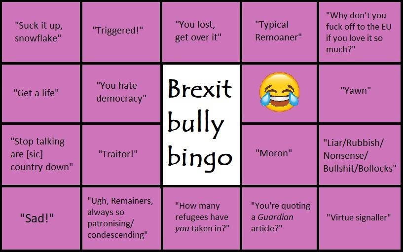 Brexit bingo